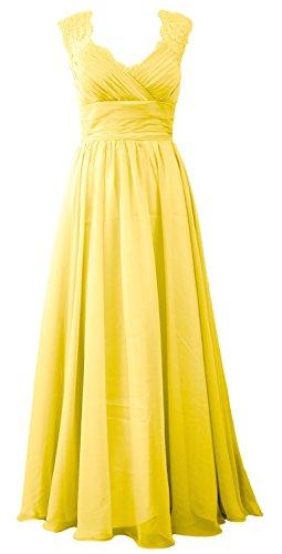 MACloth - Robe - Trapèze - Sans Manche - Femme citronier