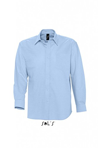Herren Oxford-Langarmhemd Boston Sky Blue