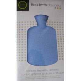 Bouillotte douceur 2 litres bleu Marque Verte - 1 bouillotte