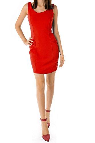 Bestyledberlin Damen Kleider, Etuikleid k46p Rot