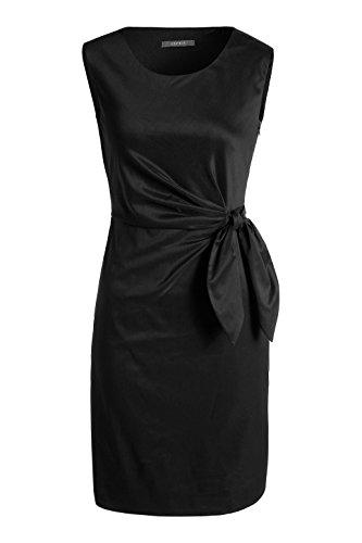 ESPRIT Collection Damen Etui Kleid figurumspielend 995EO1E900 Schwarz (Black 001)