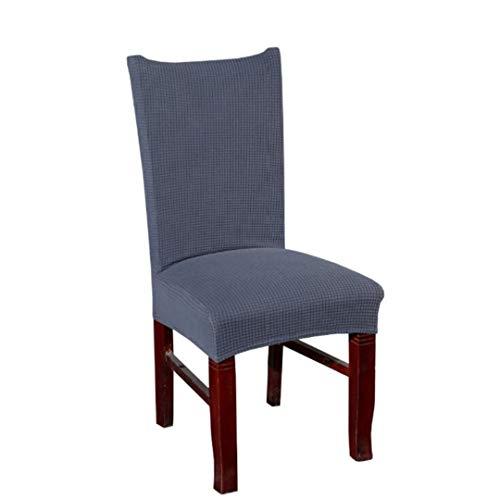 Seri babo Samt Plüsch Strench Stuhlhussen Slid Spandex Soft Thicken Dining Chair Cover Dark Grey universal Sizes