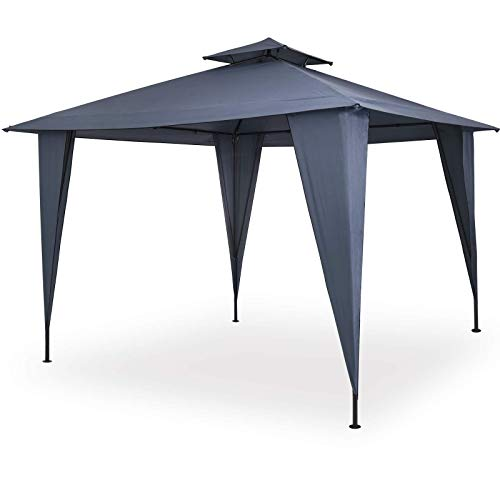 Deuba® Pavillon Sairee 3,5x3,5m wasserdicht Dachhaube UV-Schutz 50+ Festzelt Partyzelt Gartenzelt Garten Anthrazit