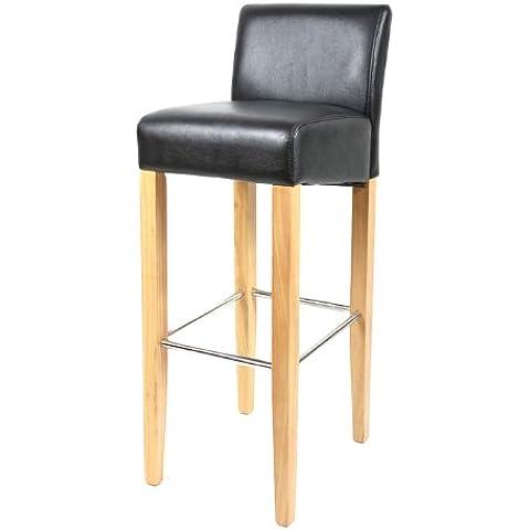 SixBros. Living Sgabello Bar Bistro in legno faggio massiccio nero - BAR-01-BS/5