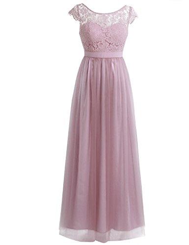 Freebily Damen spitze Kleider Brautjungfernkleid Abendkleider Hochzeitskleid Cocktailkleid...