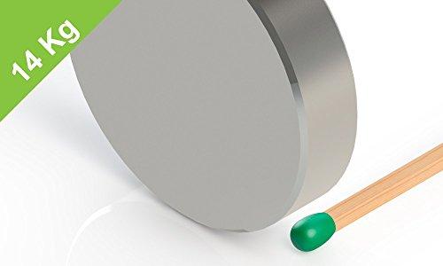 Neodym Scheibenmagnet, 30x7mm, vernickelt, Grade N42, Magnet für Schulungen -