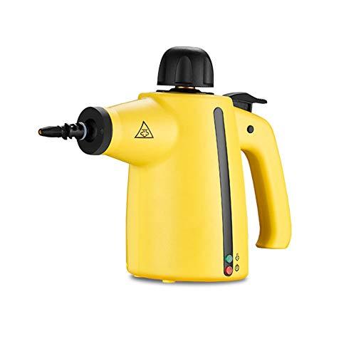 LZC Mehrzweck-Dampfreiniger, leistungsstark, Desinfektionsmittel, chemikalienfreier Hochdruckdampfer mit, perfekt zum Entfernen von Flecken, Teppich, Vorhänge, gelb