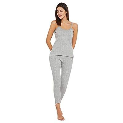 VIMAL JONNEY Thermal Light Grey Ladylower Top for Women (Thermal_ladylowerMlng_01-P)