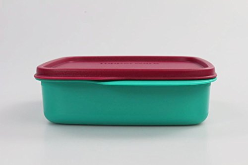 TUPPERWARE To Go Lunchbox 550 ml dunkelrot/türkis Trennwand Clevere Pause Schule 11559