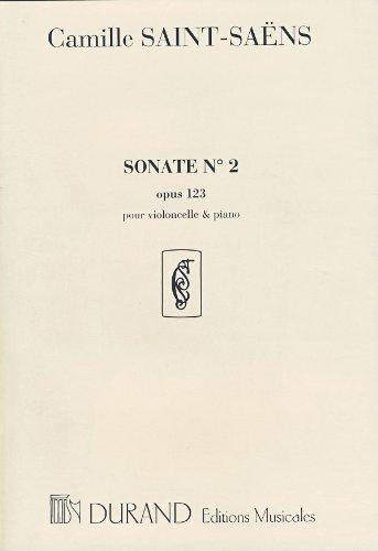 SAINT SAENS   SONATA Nº 2 OP 123 PARA VIOLONCELLO Y PIANO