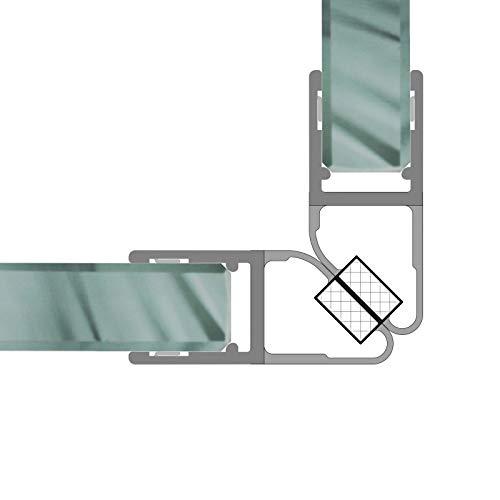 Magnetdichtungen Duschdichtung 90° Magnetprofil Steckprofil Duschdichtung Glasdusche 1 Set für 6-8 mm Glasstärke 7,49€/m - 1 Dusche Set