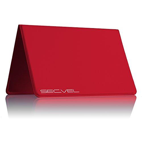 """SECVEL - die \""""NEUE und VERBESSERTE\"""" Kartenschutztasche CF+ Young Style - RFID/NFC & Magnetfeld Schutz - Berry (bis zu 4 Karten)"""