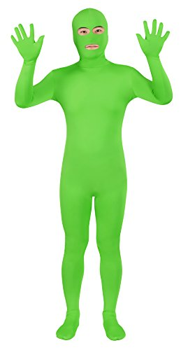 Sheface Spandex Eyes & Mouth Open Second Skin Zentai Full Body Costume (XX-Large, Lime Green) (Lime Green Halloween-kostüme)