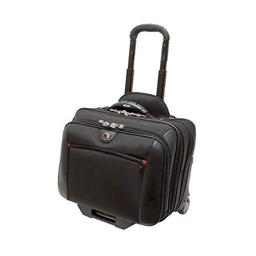 """Wenger 600661 POTOMAC 17 \""""Laptop-Tasche auf Rädern, gepolstertes Laptop-Fach mit Nachtfach in Schwarz {23 Liter}"""