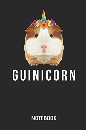 Guinicorn Notebook: Liniertes Mehrschweinchen Einhorn Notizbuch & Schreibheft für Frauen Männer und Kinder. Eine tolle Geschenk Idee für alle Meerschweinchen Freunde. -