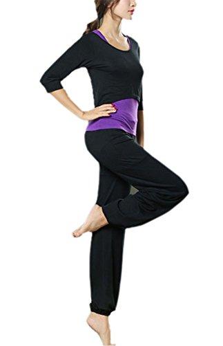 Frauen Dünne Yoga Anzug, Sportbekleidung 3 Stück Set Modale Fitness Tops Racerback + Pants Lauf Gym Outdoor Jogging Outfits Activewear