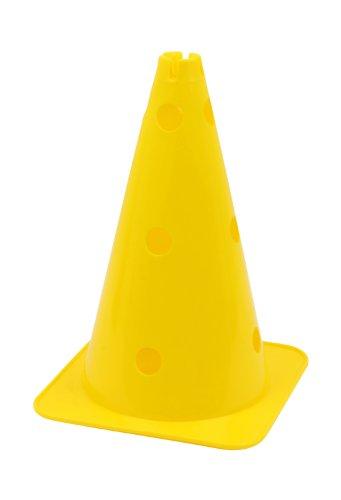 Hütchen, Kegel mit Löchern für Stangen, 38 cm, gelb
