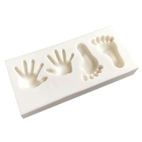 P Prettyia Silikon DIY Halloween Hand Füße Mond - Halloween-süßigkeiten Formen