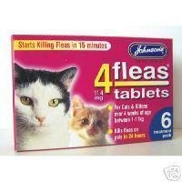 Johnsons Veterinary Products 4Fleas Tablets for Cats and Kittens 6Pk