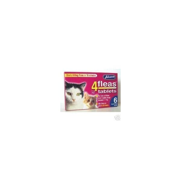 :Johnsons Veterinary Products 4Fleas Tablets for Cats and Kittens 6Pk 31dkFf8 2BmZL