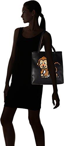 BRACCIALINI TUA Pixel, Borsa a Spalla Donna, 13 x 32 x 30 cm (W x H x L) Nero