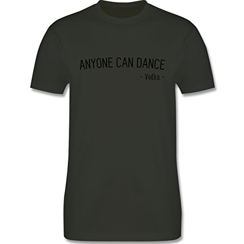 Statement Shirts - Anyone can dance - Vodka - - Herren Premium T-Shirt Army Grün