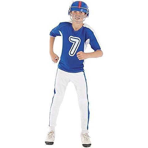 Disfraz jugador de rugby niño Talla 8 neutro
