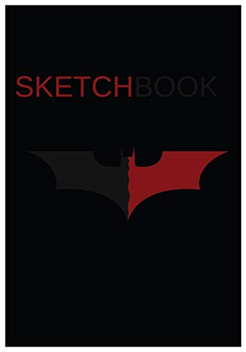 Batman Sketchbook: Dark Batman Workbook to Drawing, Doodling or Sketching for Kids, 120 Blank Pages, Small 7x10. Red&Grey Bat Cover Design (Belt Batman Kids Für Utility)