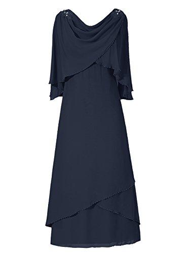 Dresstells, A-ligne robe mousseline de mère de mariée Menthe