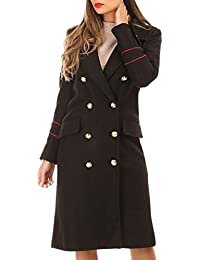 La Modeuse - Manteau Long avec Boutons Style Officier b83fccdecd3