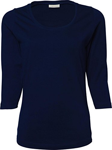 Ladies 3/4 Sleeve Stretch Tee blu navy