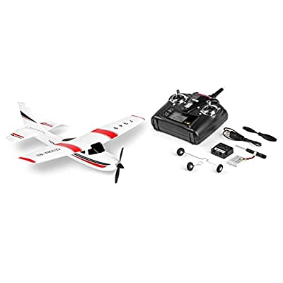 Funnyrunstore WLtoys F949 3 Channel 2.4GHz Radio Control RC Airplane Fixed Wing RTF CESSNA-182 Plane Outdoor Drone Toy for Ages 14+ Children