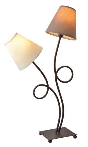 """Naeve Leuchten Tischleuchte\""""Tighty\"""" 2-flammig, Höhe: 65 cm, braun 3095414"""