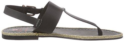 Fred de la Bretoniere - Fred Tstrap Sandalet Flat Lloret Flat, Scarpe col tacco con cinturino a T Donna Nero (Nero (nero))