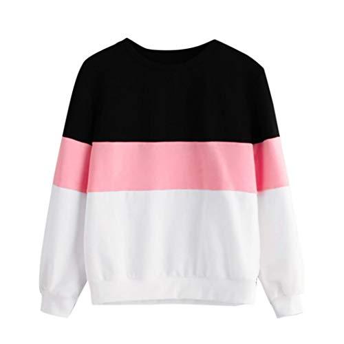 ew Pullover Streifen Shirt Hoodie Print Sweatshirt Damen Herbst Sweater ()