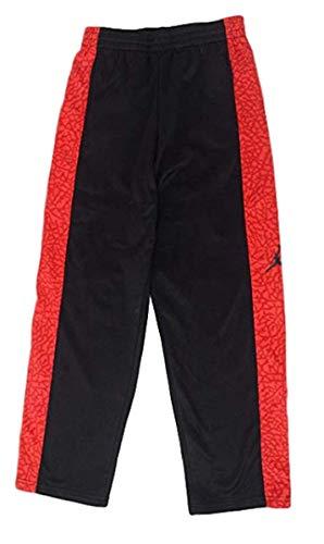 Nike Boys Therma-FIT Micro-Fleece Pants Preschool Basketball Pants (Black/Grey/Red, 4(3-4YRS))