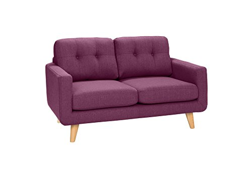 New Level Alexis 2-Sitzer Sofa, Polyester, Fuchsia, 93 x 149 x 88 cm