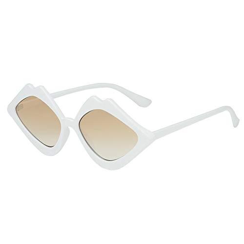 BURFLY Frauen Neue Retro Gelee Farbe Lippen Sonnenbrille Klassische Aviator Sonnenblende super leichtes Design