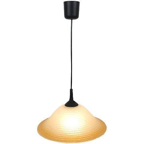 Naeve Leuchten 707815 - Lámpara de techo (cristal, E27, 60 W, 230 V, 50 Hz, diámetro de 35 cm), color amarillo