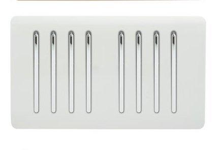 Trendi Artistic Modern - Interruptor de luz táctil (8 interruptores, 2 vías,...