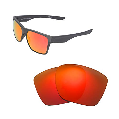 Walleva Ersatzgläser für Oakley TwoFace XL Sonnenbrille - Verschiedene Optionen erhältlich (schwarz - polarisiert), Unisex-Erwachsene, Fire Red Mirror Coated - Polarized, Einheitsgröße