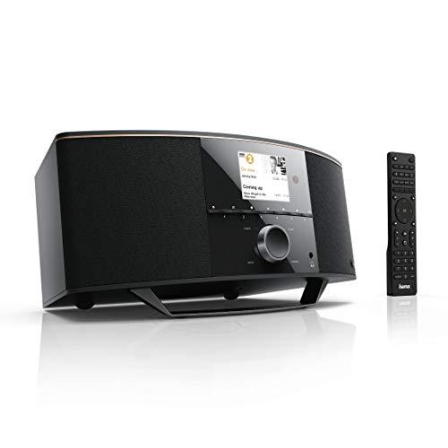 "Hama Internetradio mit 2.1 Soundsystem \""IR150MBT\"" (Stereo 90 Watt RMS, Bluetooth/USB/AUX, Spotify, Farbdisplay, Fernbedienung, gratis App, Radio-Wecker) WLAN-Radio"