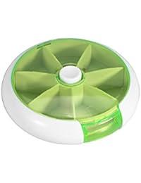 ROSENICE Pastillero Semanal 7 Compartimentos Organizador Dispensador de Pastilla (Verde)