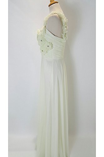 Pia Michi Damen One-Shoulder Kleid Elfenbein crema Crema
