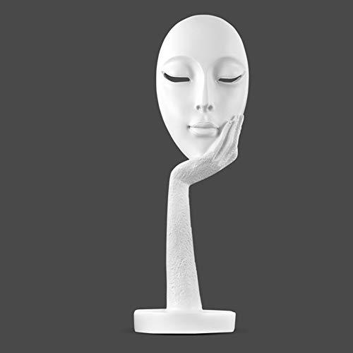 LIDUO Kreative und abstrakte Frau Gesicht Statuen,Frau Figuren Denker Statuen/Angel Girl Figurine/Statuen für Heimtextilien Handwerk Geschenk - Abstrakte Frau Gesicht