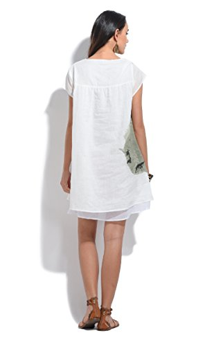 Bella blue Damen Kleid Weiß