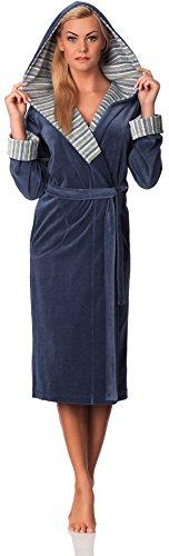 Merry Style Femmes Velours Peignoir de Bain avec Capuche Penelope Jeans