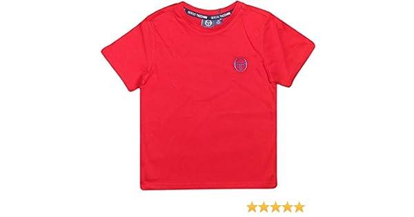 Sergio Tacchini Ragazzi Ragazzi Ragazzi Sport Tennis T-Shirt Manica Corta Cotone
