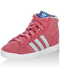 adidas Zapatillas abotinadas Basket Profi I Rosa/Cielo EU 24 EHulU