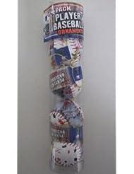Ken Griffey, Jr. Reds MLB Player Baseball Ornement de Noëls 4 Pack